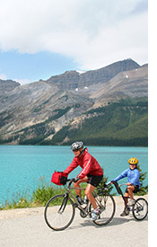 Canadian Rockies biking photo